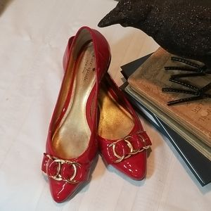 🦚RARE! Kate Spade red patent leather Eryn flats